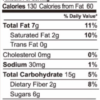 Chocolate Decadence granola nutrition facts (2 oz snack pack)