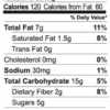 Original granola nutrition facts (2 oz snack pack)
