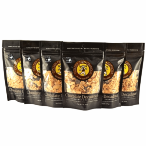 Chocolate Decadence granola snack packs with pour in pouch