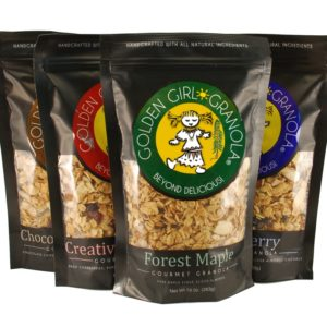 Golden Girl Granola maple granola flavors