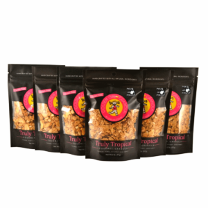 Truly Tropical granola snack packs with pour in pouch