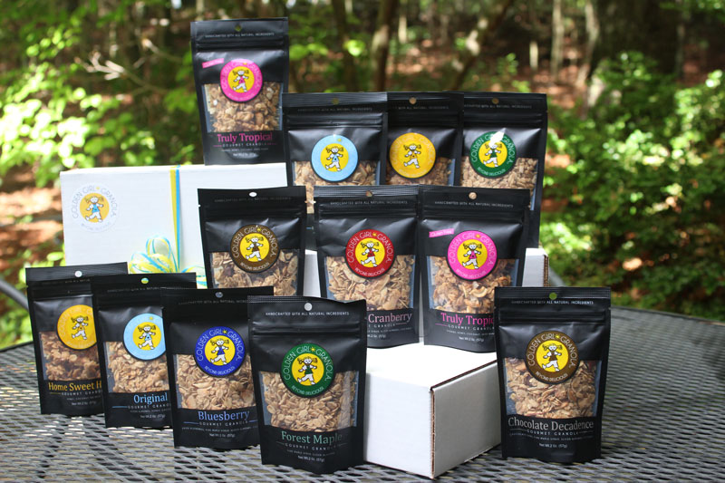 Golden Girl Granola snack packs