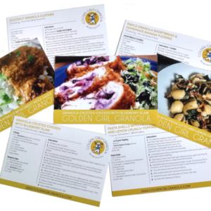 Golden Girl Granola recipe cards