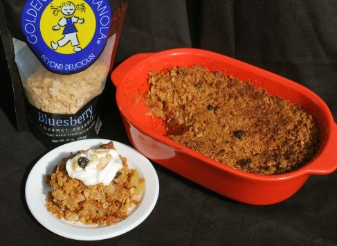 Apple Crisp With Bluesberry Granola Image
