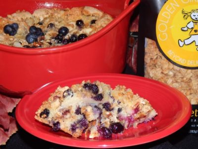 Blueberry Granola Pudding Cake Image