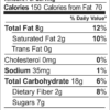 Truly Tropical granola nutrition facts (10 oz bag)
