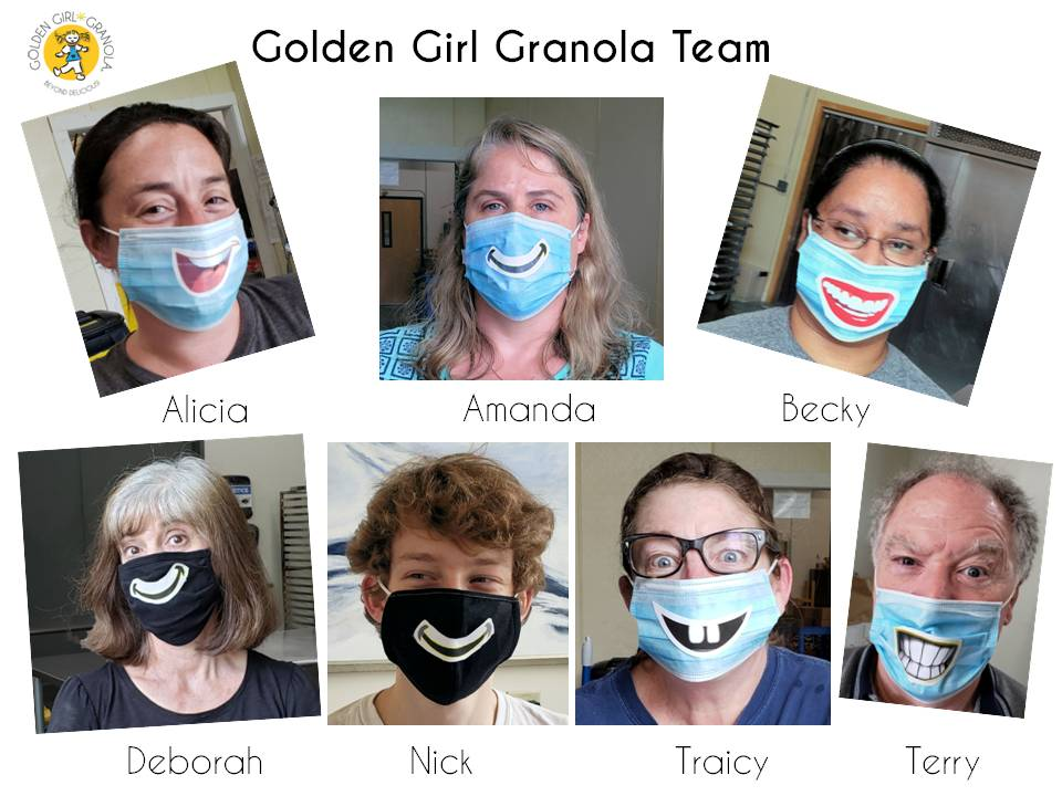 Golden Girl Granola staff photo collage