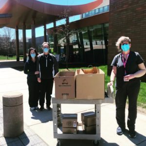 Lahey Hospital granola donation to essential workers
