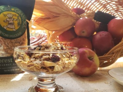 Forest Maple granola with Thanksgiving cornucopia