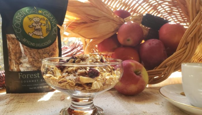 Forest Maple granola with Thanksgiving cornucopia
