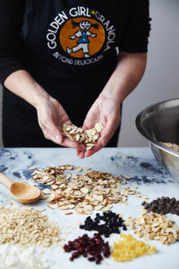 Golden Girl Granola raw ingredients