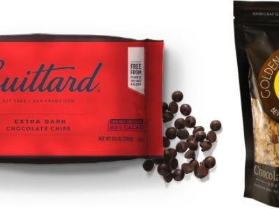 Guittard chocolate and chocolate granola bag