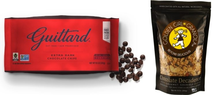 Guittard chocolate and chocolate granola bag