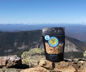 Original granola snack pack at hiking summit