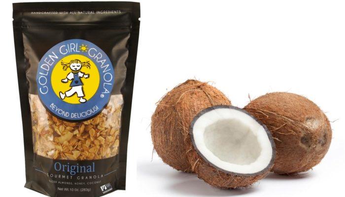 Original granola bag and coconut