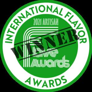 2021 Artisan Flave Award Winner logo for Bluesberry granola