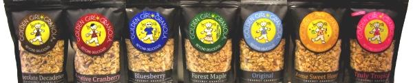 Golden Girl Granola flavors